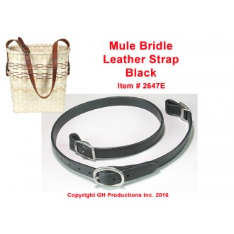 Black Mule Bridle Leather Strap