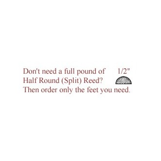 """per foot - 1/2"""" Half Round Reed (Split Reed) - sold by the foot"""