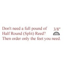 "per foot - 3/8"" Half Round Reed (Split Reed) - sold by the foot"