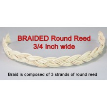 "BRAIDED Round Reed .. 3/4"" wide / Yard"