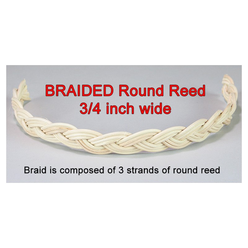 Braided round reed 34 wide yard the basket makers catalog braided round reed 34 inch wide fandeluxe Choice Image