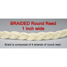"BRAIDED Round Reed .. 1"" wide / Yard"