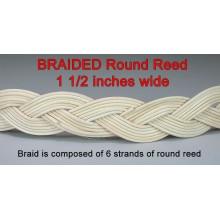 "BRAIDED Round Reed .. 1.5"" wide / Yard"