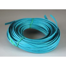 """Aqua Marine 1/2"""" Dyed Flat Reed - 1/2 Lb."""