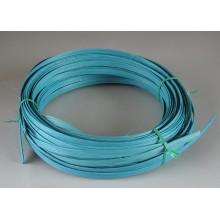 """Aqua Marine 3/8"""" Dyed Flat Reed - 1/2 Lb."""