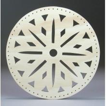 Pine Needle Base 6'' Snowflake Design