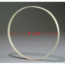 8 inch x 1/2 inch Round Solid Hardwood Hoop