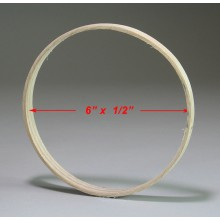 6 inch x 1/2 inch Round Solid Hardwood Hoop