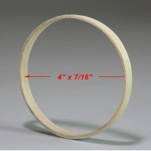4 inch x 7/16 inch Round Solid Hardwood Hoop
