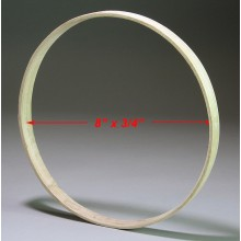 8 inch x 3/4 inch Round Solid Hardwood Hoop