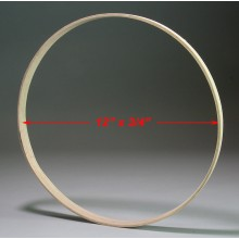 12 inch x 3/4 inch Round Solid Hardwood Hoop