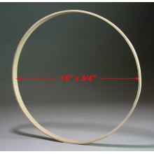 14 inch x 3/4 inch Round Solid Hardwood Hoop