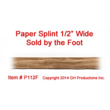 Paper Splint 1/2 inch wide - SOLD BY THE FOOT