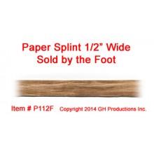 Paper Splint 1/2 inch wide - SOLD BY THE FOOT