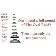 """per foot - 11/64"""" Flat Oval Reed - sold by the foot."""