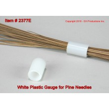 White Plastic Gauge for Pine Needles