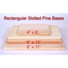 6 inch x 10 inch Rectangular Slotted Base