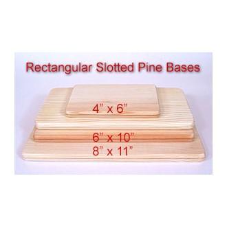 8 x 11 Rectangular Slotted Base