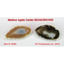 Medium-sized Agate Center BEIGE/BROWN