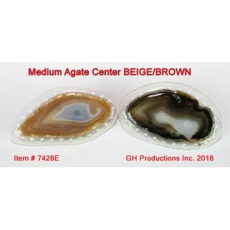 Medium Agate Center BEIGE/BROWN