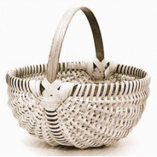 "10"" Melon-shaped Egg Basket"