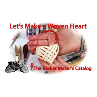 "VIDEO - Let's Make a Woven Heart Using 1/4"" Flat Reed"