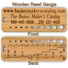 Wooden Gauge for Reed Sizing