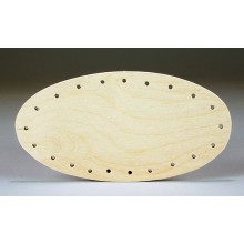 Drilled Base - 3 inch x 6 inch Oval