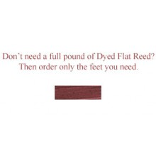 """per foot - DYED 1/2"""" Flat Burgundy--Sold by the foot"""