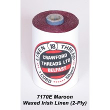 2-PLY Maroon Waxed Linen - Spool