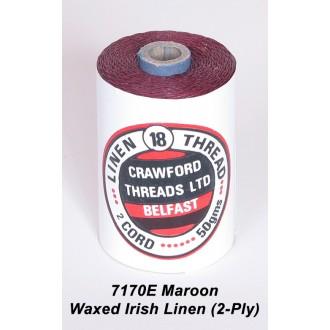 Maroon Waxed Linen 2-ply