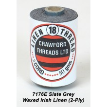 2-PLY Slate Grey Waxed Linen- Spool