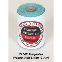 2-PLY Turquoise Waxed Linen - Spool