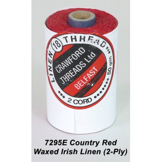 Country Red Waxed Linen 2-ply