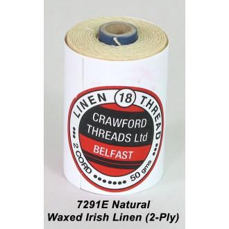 Natural Waxed Linen 2-ply