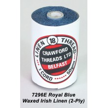 Royal Blue-Waxed Irish Linen 2-ply - Spool