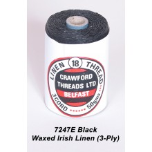 3-PLY Black Waxed Linen - Spool