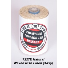 3-PLY Natural Waxed Linen - Spool