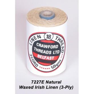 Natural Waxed Linen 3-ply