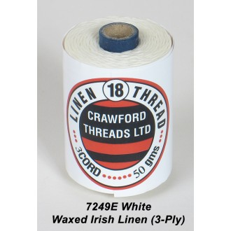 White Waxed Linen 3-ply