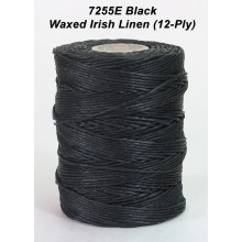 Black Waxed Linen 12-ply