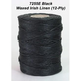 Black Waxed Linen 12-ply