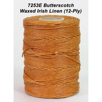 Butterscotch Waxed Linen 12-ply