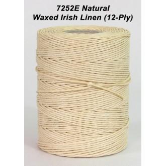 Natural Waxed Linen 12-ply