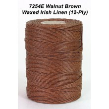 Walnut Brown Waxed Irish Linen 12-PLY - Spool