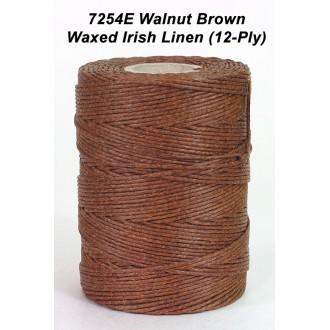 Walnut Brown Waxed Linen 12-ply