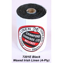 Black-Waxed Irish Linen 4-ply - Spool
