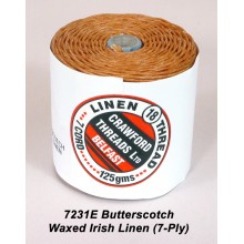 7-ply Butterscotch Waxed Irish Linen