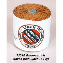 7-ply Butterscotch Waxed Irish Linen
