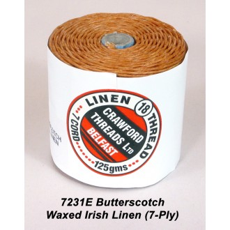 Butterscotch Waxed Linen 7-ply